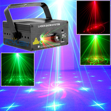 18 Patterns Blue LED Laser Light And Music Lumiere Red Green Mini Laser Projector Stage Disco Lighting Music Equipment(China (Mainland))