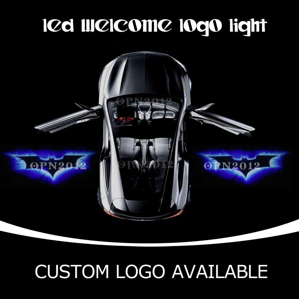 Dark Knight Batman LED Logo Light Car Door Projector Ghost Shadow Lamp For VW Ford CHEVROLET HONDA CIVIC VW FX4 OFF ROAD 2227(China (Mainland))