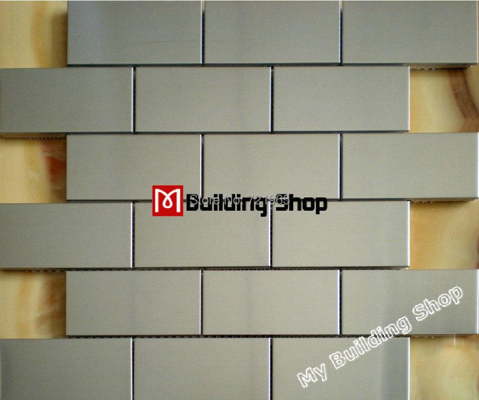 Brush Silver Metallic Mosaic Wall Tiles Backsplash Smmt030 Stainless
