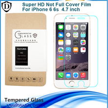Not Full Cover Tempered Glass Film For iPhone 6 6S 4.7 inch Screen Protector Perfect Match case Toughened glass for iphone 6s