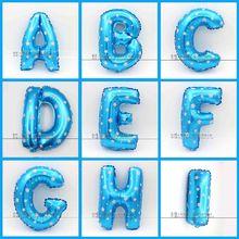 1pc 16inch blue for boy balloon A~Z alphabet balloon (China (Mainland))
