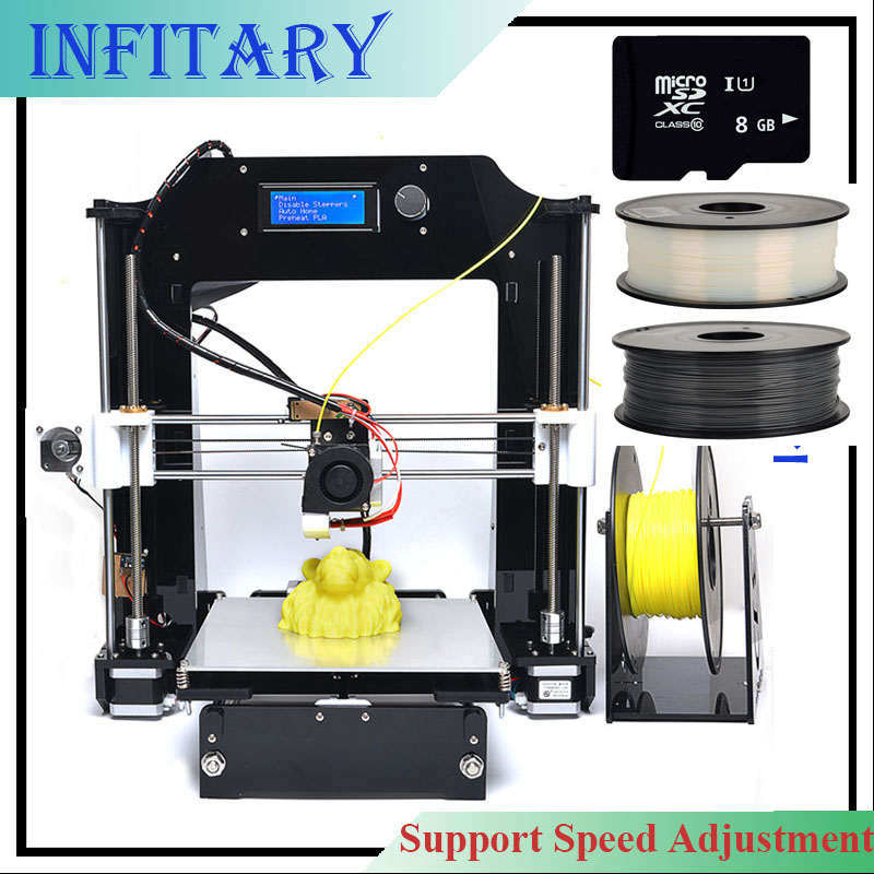 2016 Upgraded LCD 3D printer Reprap prusa i3 DIY kits Mainboard melzi marlin firmware with 2roll