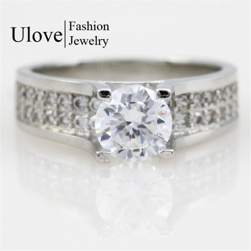 Simulated Diamond Engagement Big Rings For Women Gift Fashion Crystal Star Ch