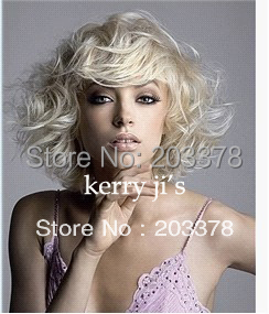 Top quality Latest Lovely Short Hairstyle Trend Cruly Wig for women / lady /girl 10pcs/lot mix order