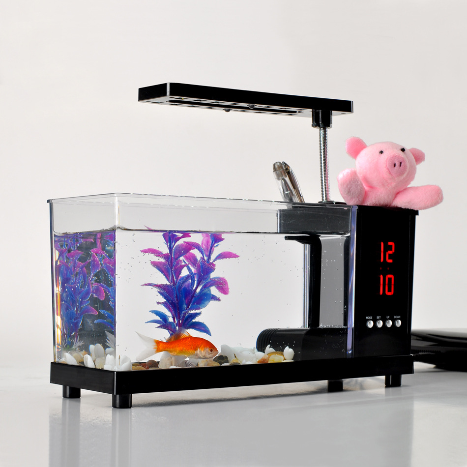 2015 latest small aquarium mini usb mini aquarium fish tank aquarium biotope in aquariums. Black Bedroom Furniture Sets. Home Design Ideas