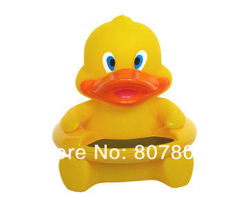 30pcs/lot  Cute DUCK Bath Tub Baby Infant Thermometer Water Temperature Tester Toy Hot selling