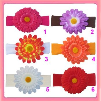 Free Shipping!12PCS/LOT New 6colors nylon headband  interchangeable with big flowers  can mix order