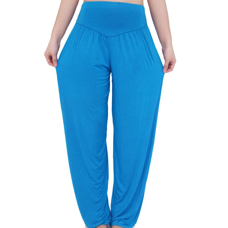 2016 casual harem pants sweat wide leg women pant elastic