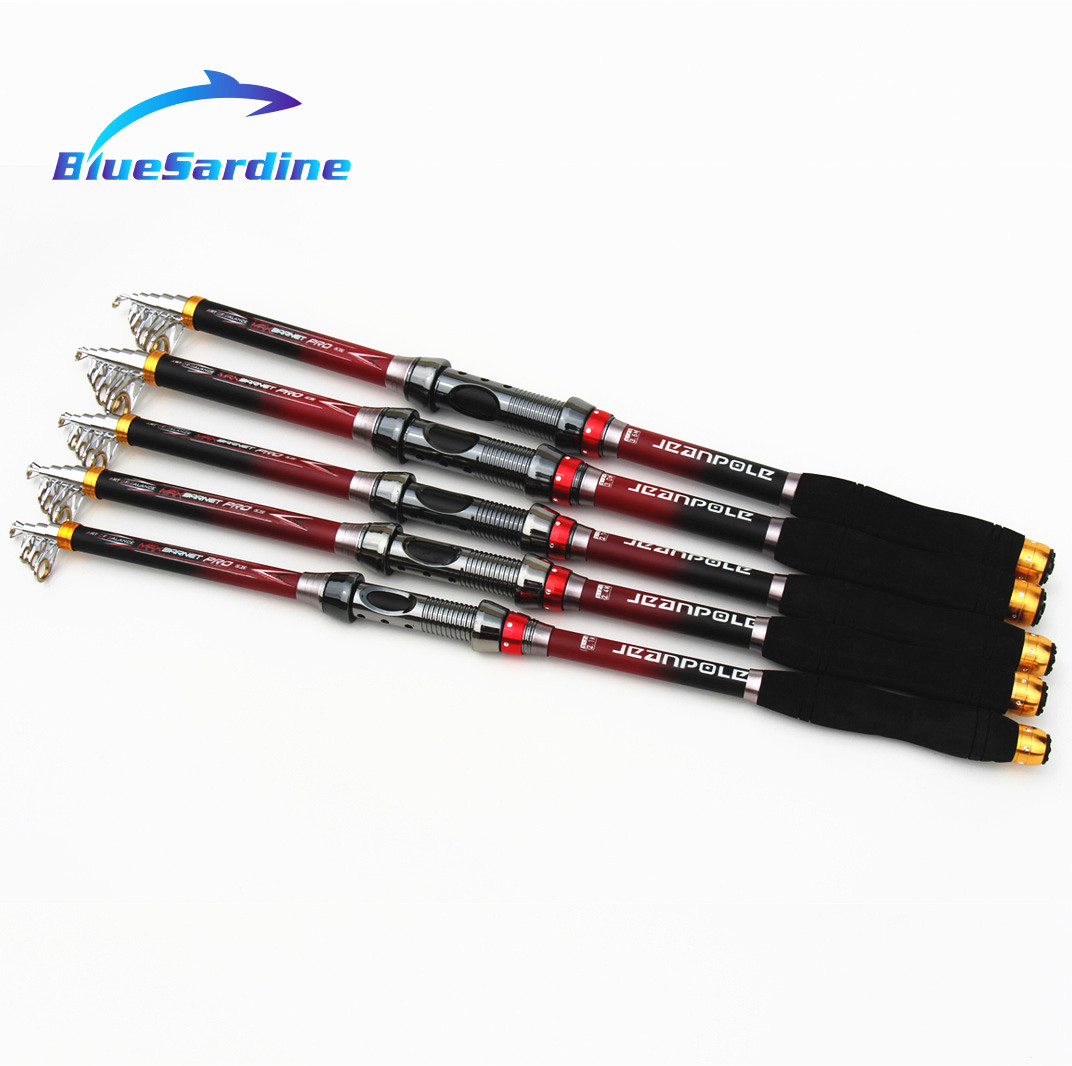 New Telescopic Fishing Rod Spinning Sea Rod Hard Carbon Fishing Tackle 2.1M 2.4M 2.7M 3M 3.6M(China (Mainland))
