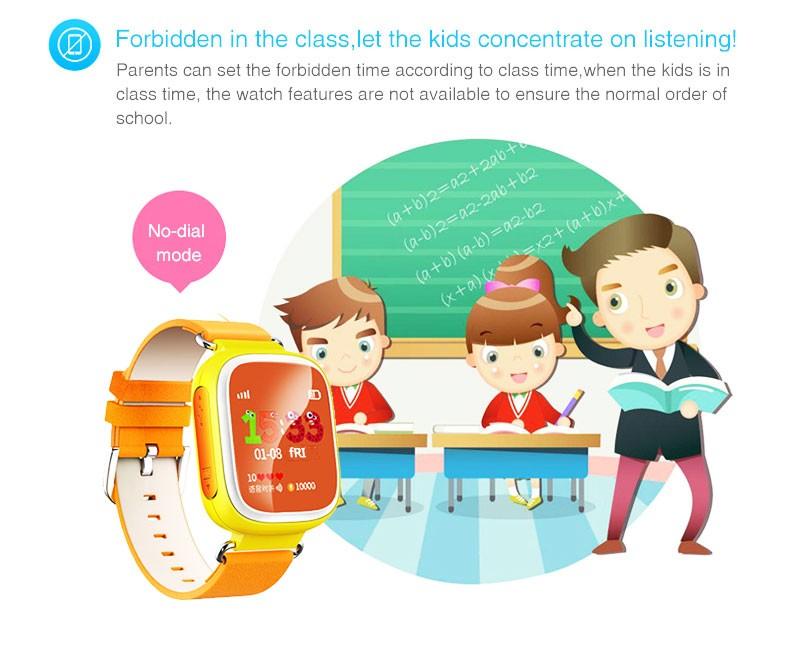 ถูก ร้อนจีพีเอสติดตามชมสำหรับเด็กปลอดภัยGPS Watch Q80สีดำสมาร์ทนาฬิกาข้อมือSOSโทรFinder L Ocatorติดตามต่อต้านหายไปตรวจสอบGSM