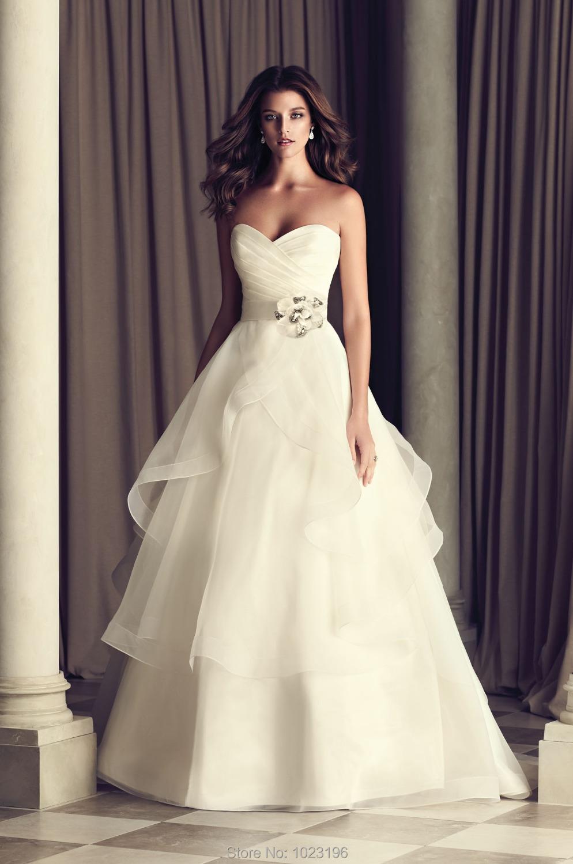 New Fashion Bride Natural Bandage Flower Bride Dress Vestido De Noiva 2015 Hot Sale Taffeta A Line Wedding Dress Plus Size(China (Mainland))