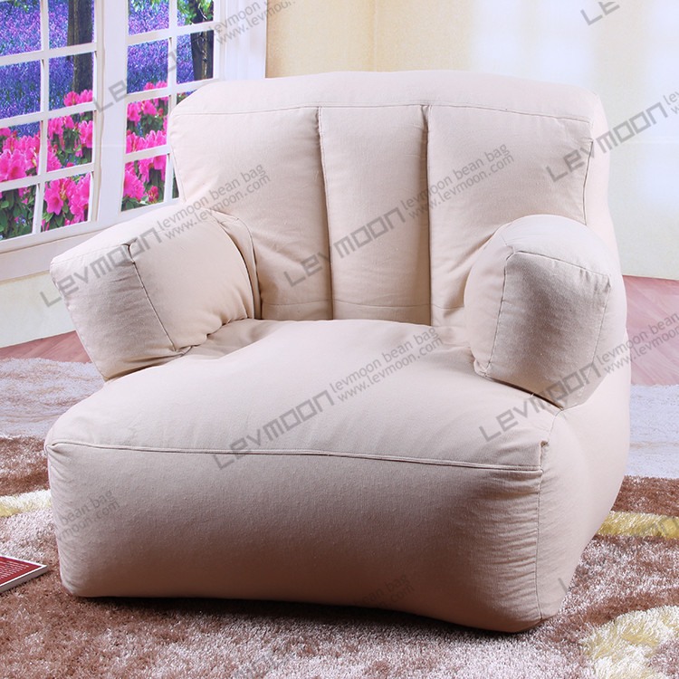 FREE SHIPPING bean bag cover only best bean bags company 100% cotton canvas bean bag sofa without filling(China (Mainland))