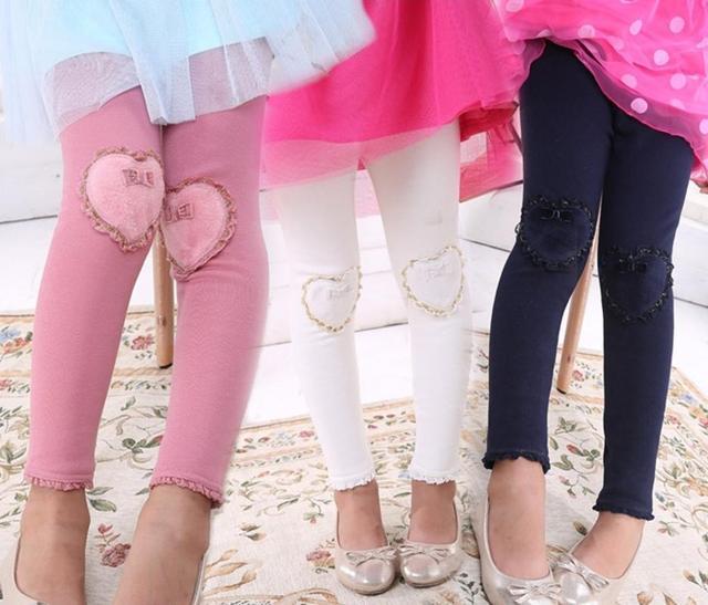 2015 осень зима девушка детская любовь леггинсы брюки для детей девушки вилли икры длина брюки 4 цвета