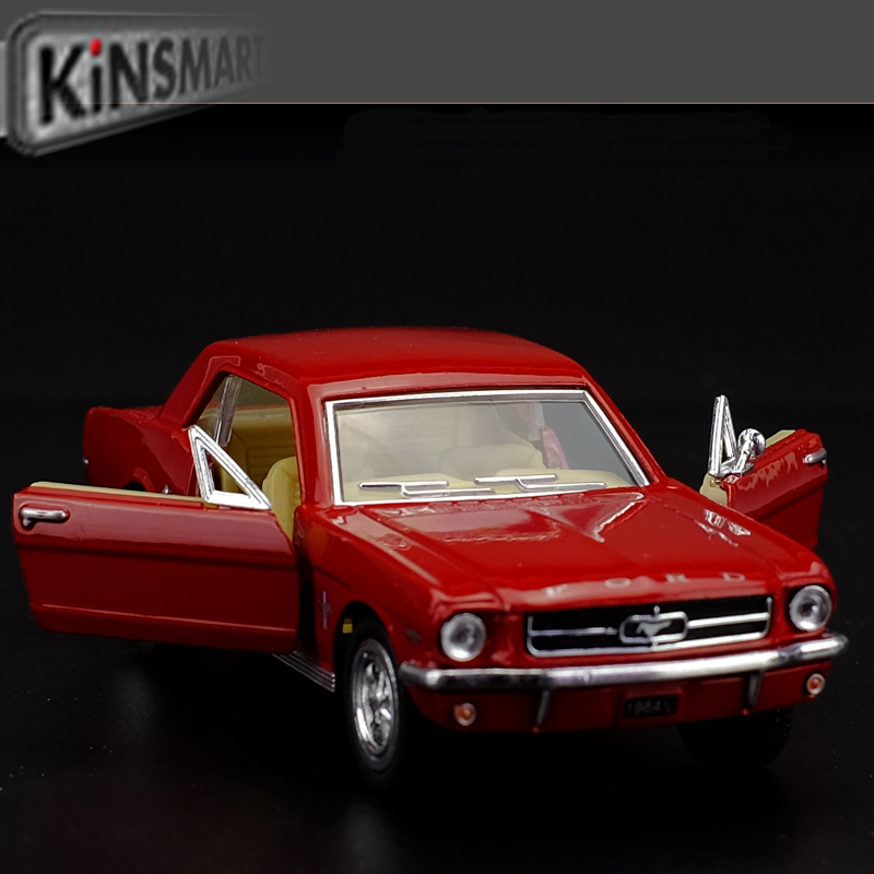 Free shipping Kinsmart 1:36 FORD mustang 1964 saloon car Alloy model toys Leap to jump Children like the gift(China (Mainland))