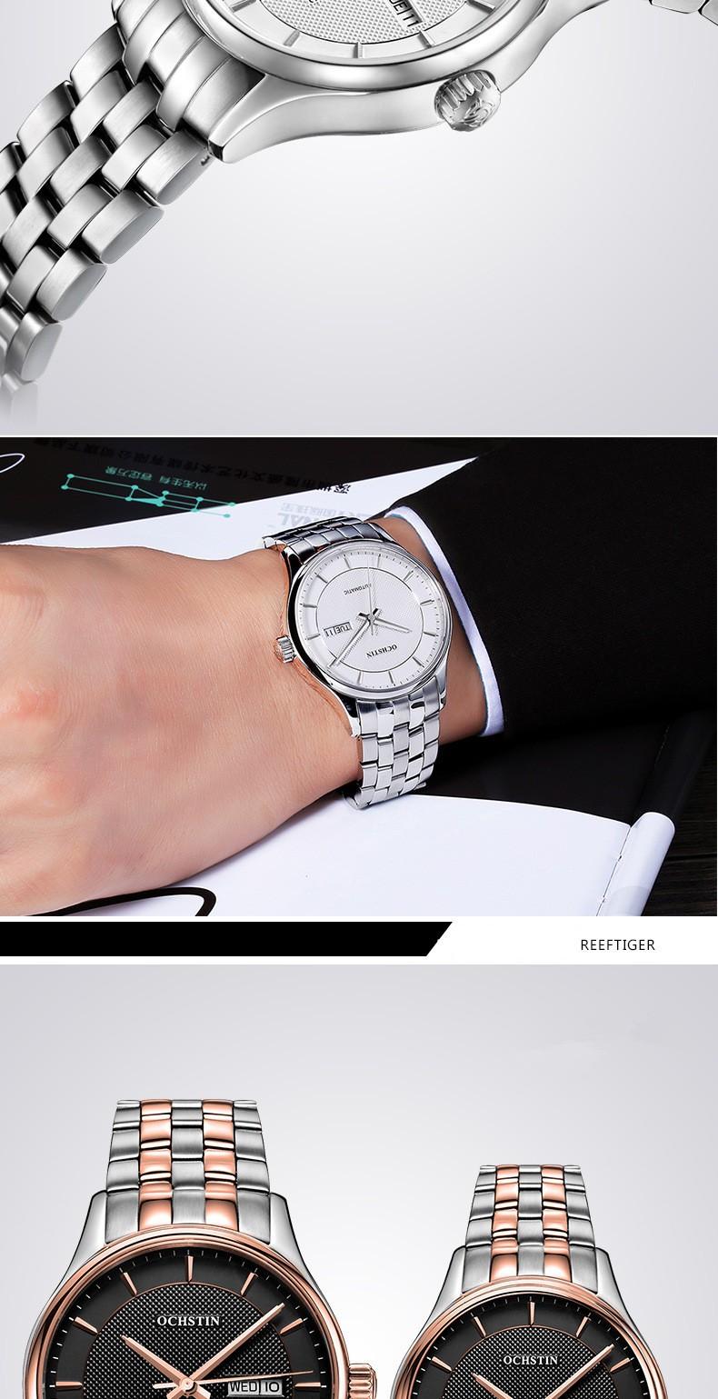 2016 Общество С Ограниченной Ochstin Механические Часы Мужчины Дата День Наручные Мужские Часы Relogio Masculino Роскошные Мода Повседневная женские Наручные