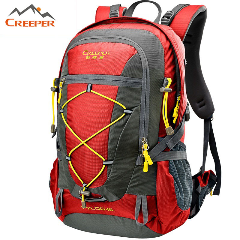 40L Backpack Portable Outdoor Climbing Rucksack Waterproof Mountaineering Hiking Back pack Sport Bags Molle Camping Bag 40 Liter(China (Mainland))