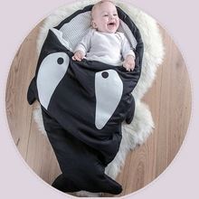 Hot Sale Cute Carton Shark Baby Sleep Bag Winer Baby Sleep Sack Warm Baby Blanket Warm Swaddle(China (Mainland))