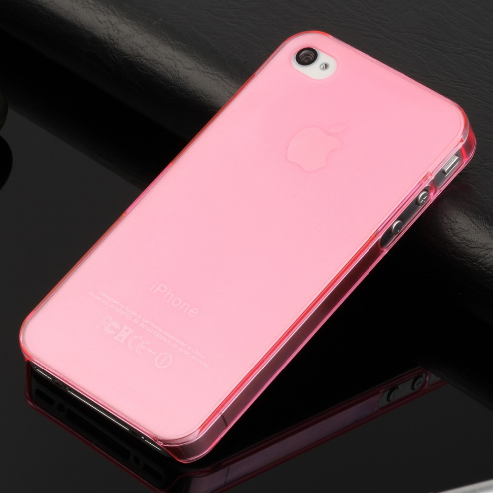 hot sale ultra thin slim mobile phone case for iphone 4s iphone4 matte crystal clear transparent pc hard cover(China (Mainland))