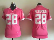 Women ladies all stitched PINK love Minnesota Vikings #5 Teddy Bridgewater 28 Adrian Peterson(China (Mainland))