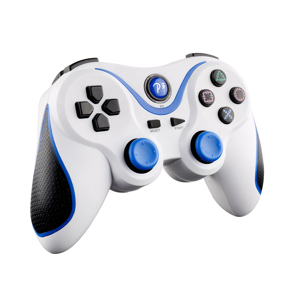 Hot Wireless Bluetooth Game Controller Gamepad For PS3 Playstation 3 PC laptop Computer android White Blue(China (Mainland))