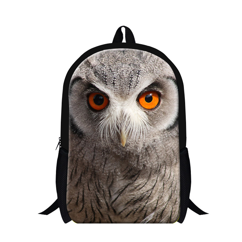 Personalized 3D owl print school bag children backpack,new design girls mochila bookbags boys,primary students back packs