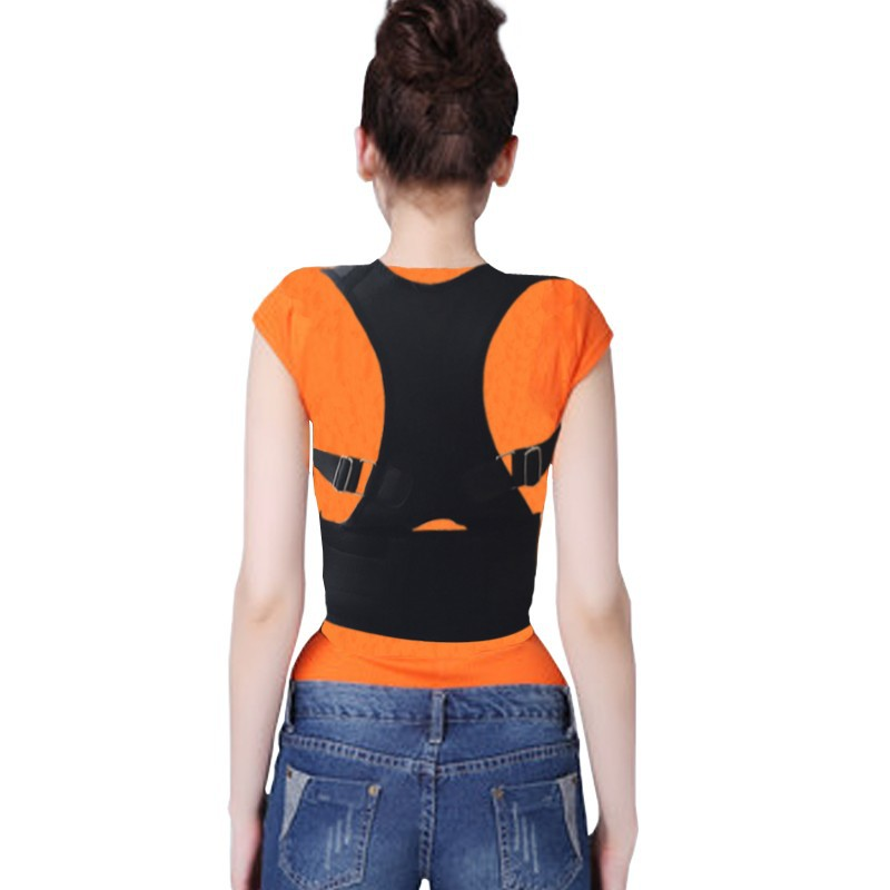 New Back Support Relax Muscles Posture Corrector Standing Straighten Comfortable Fabric Adjustable belts(China (Mainland))