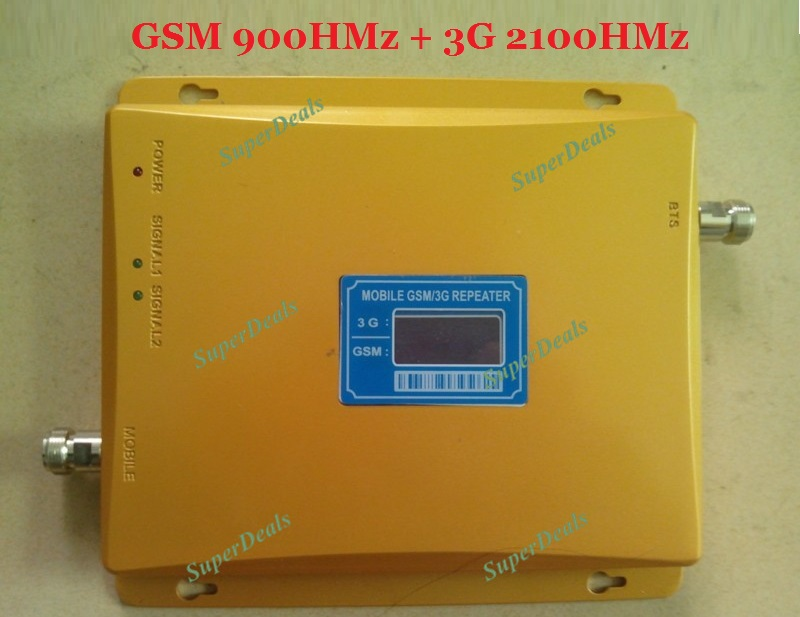 3G Repeater W-CDMA 2100Mhz Mobile Phone UMTS Signal Booster 3G WCDMA Signal Repeater Amplifier Free drop shipping(China (Mainland))
