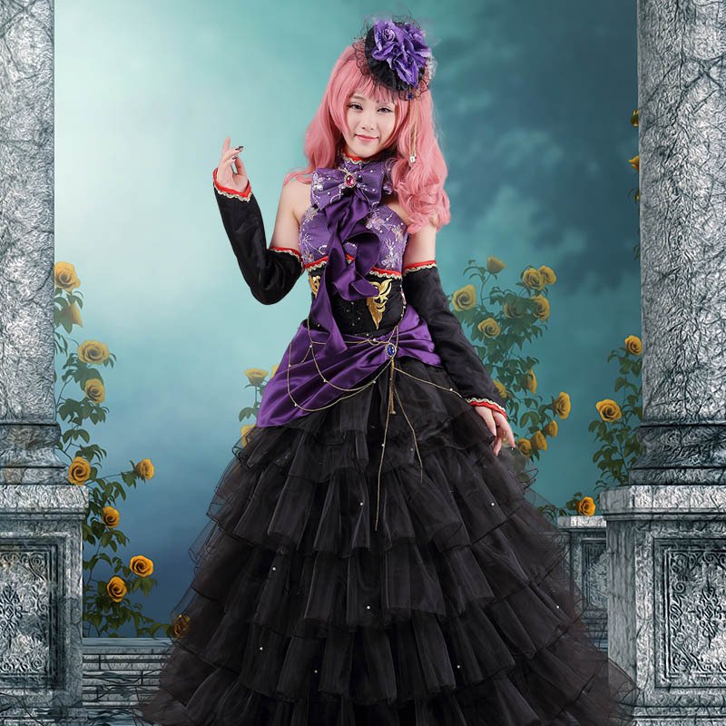 VOCALOID Megurine Luka Dragon Fancy Lace Dress Vocaloid Full Set in Cosplay CostumeОдежда и ак�е��уары<br><br><br>Aliexpress