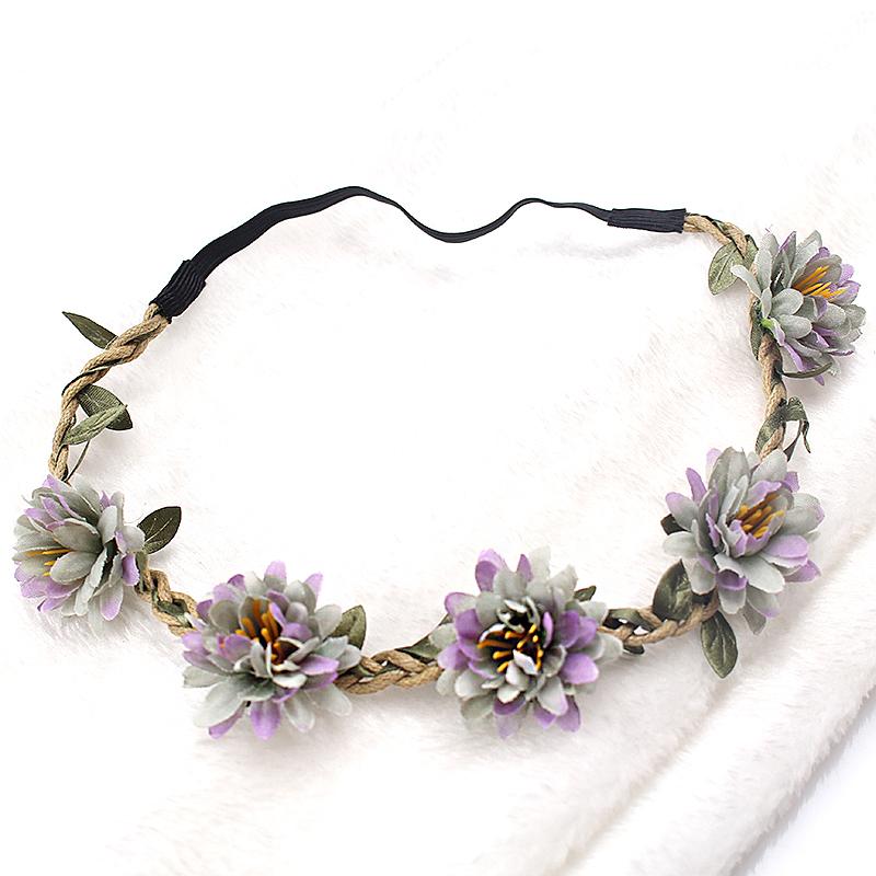 M MISM New Woman Flower Headband Bride Wedding Hair Bands Accessories Girls Bohemian Garland Summer Beach Head Bands Headdress(China (Mainland))