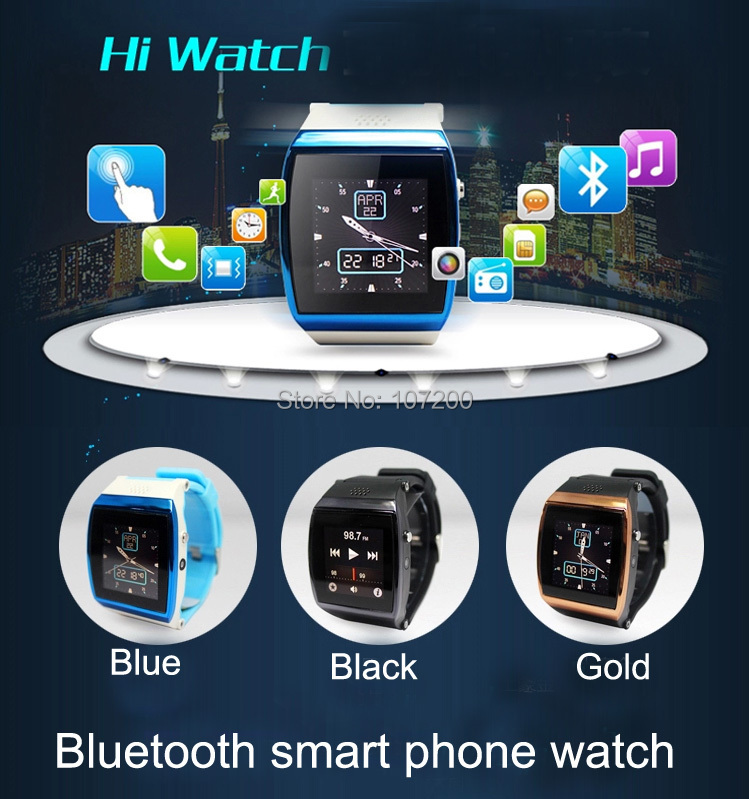 Quality Bluetooth Smart Watch WristWatch iPhone 4/4S/5/5S Samsung S4/Note 2/Note 3 HTC Android Phone Smartphones  -  Lino Electronics Mall store