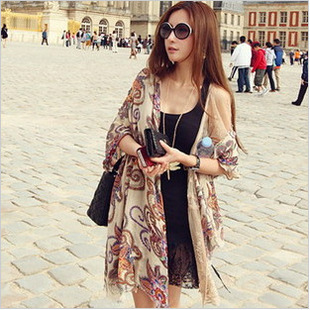 Vintage scarf spring and autumn national trend female cape shawl(China (Mainland))