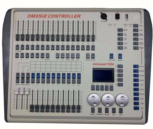 Rasha New Arrival Mini Pearl 1024 DMX Light Controller,Stage Disco Console,DMX DJ Console For Stage Light With Flight Case