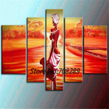 2014 The latest  Dusk scenery Indiana Maiden home decoration paintings Abstract the modernist Wall Art Oil Painting Picture(China (Mainland))