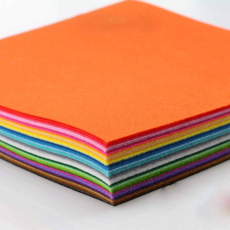 Handmade Craft Ideas For Kids Part - 42: 30X30cm Solid Color Thick 1mm Felt Fabric Handmade Sewing DIY Patchwork  Cloth Material Kid Christmas Gift