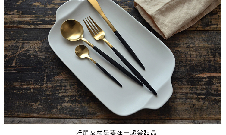 Buy 4Pcs/set Stainless Steel Flatware Set Tableware Dinnerware Knife Spoon Fork Cutlery Set Kitchen cooking Picnic Gift for CHild cheap