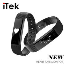 Buy ID115 HR Smart Bracelet Activity Fitness Tracker Heart Rate Monitor Band Alarm Vibration Wristband iphone Android pk fitbits for $19.48 in AliExpress store