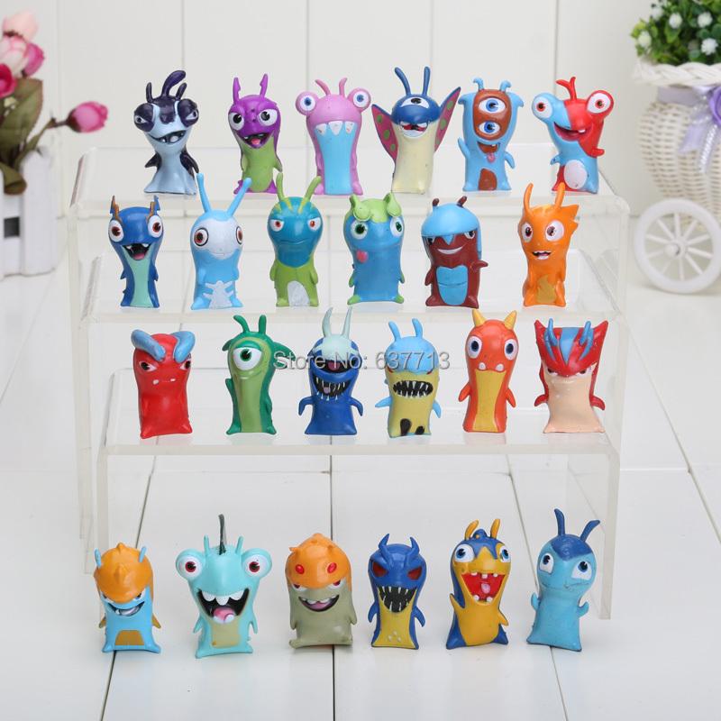 24pcs/set Anime Cartoon 4.5-5cm Mini Slugterra PVC Action Figures Toys Dolls Child Toys(China (Mainland))