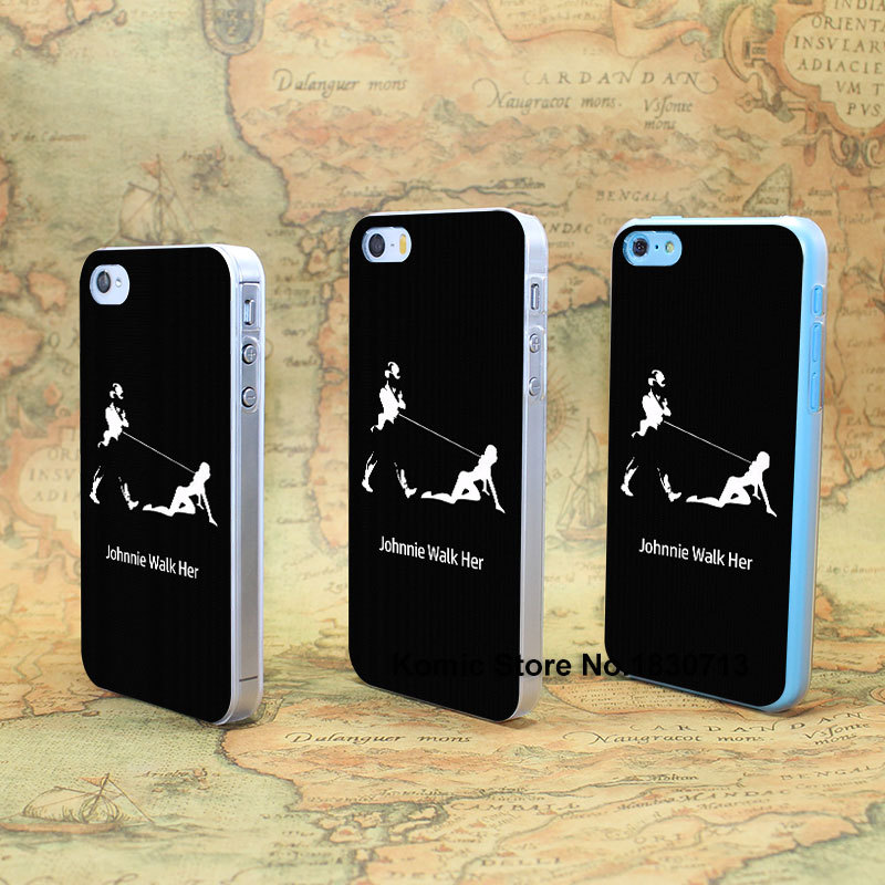 Johnnie Walker Funny Design hard transparent clear Skin Cover Case for iPhone 4 4s 4g 5 5s 5g 5c(China (Mainland))
