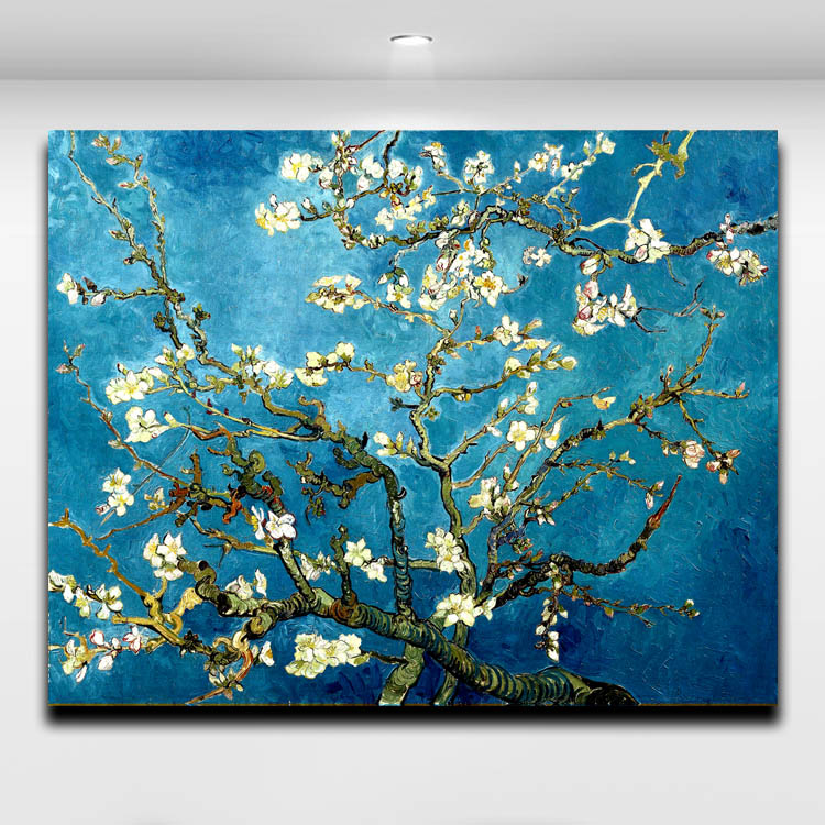 Buy blossoming almond tree by van gogh for Where to buy canvas art