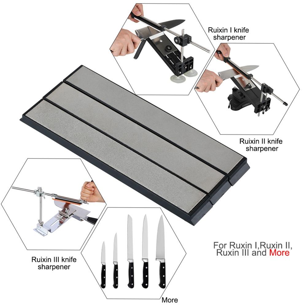 1 Set 3pcs Kitchen Tool Knife Sharpener Edge Diamond Whetstone Sharpening Stones for Knife Sharpener System(China (Mainland))