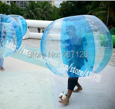 Free shipping 1.5M Colored pure TPU bubble football/bubble suit/loopy ball(China (Mainland))