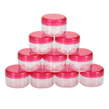 Hot Sale 10Pcs Portable Cosmetic Empty Jar Pot Eyeshadow Makeup Face Cream Container LY#4
