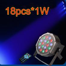 new style seven colors led par light 18pcs 3w led stage par light DMX512 control DJ disco stage lighting(China (Mainland))
