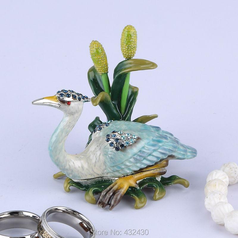 Keyeast Asia / 2014 /New style Crane Pewter Metal Jewelry Box / Metal jewelry box / Pure manual / Crafts/High Quality(China (Mainland))