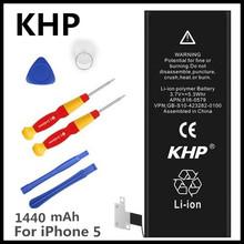 Buy 100% Original Brand KHP Phone Battery iphone 5 5G Real Capacity 1440mAh Machine Tools Kit Mobile Batteries for $7.51 in AliExpress store