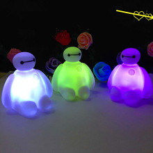 Brand New Colors Changing Creative Cartoon Baymax LED Night Light Decoration Lamp Nightlight,great gift for kids(China (Mainland))