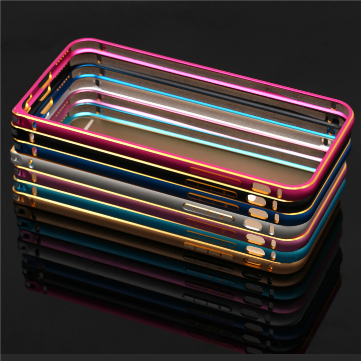 hot selling double colors aluminum alloy frame phone bumper case for iphone 6 4.7 inch pone accessories use i(China (Mainland))