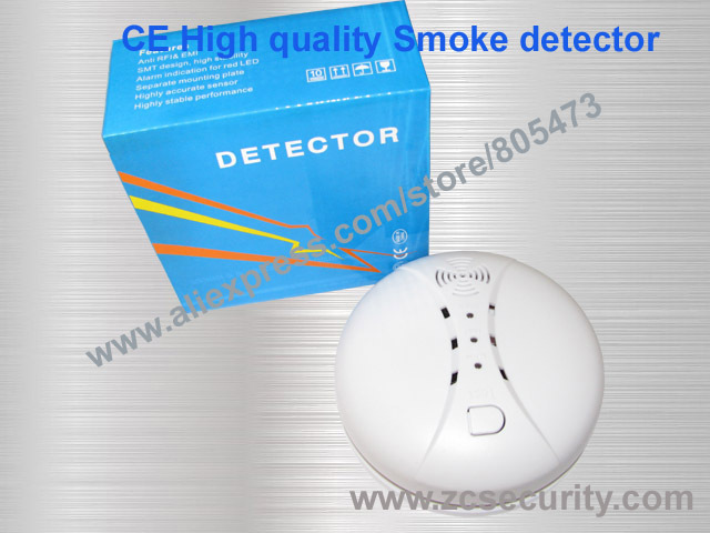 315MHZ or 433 MHZ Wireless alarm smoke detector can connect with GSM alarm system Free shipping(China (Mainland))