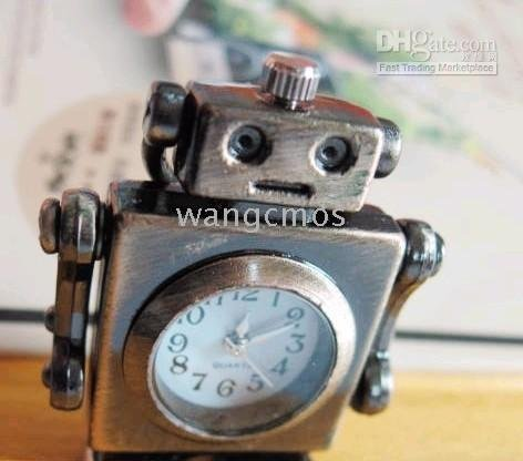 robot pendant pocketwatches/retro sweater chain pocketwatches/ keychain watches/nacklace watches