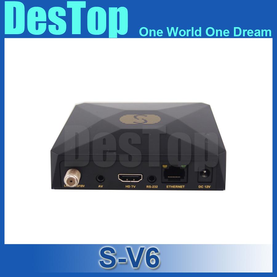 10pcs Original S-V6 Mini HD Satellite Receiver Skybox V6 Support CCCAMD Newcamd WEB TV USB Wifi 3G Biss Key Youporn Free Shiping(China (Mainland))